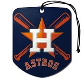 MLB - Houston Astros Air Freshener 2-pk 2.75 x 3.5 -