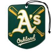 MLB - Oakland Athletics Air Freshener 2-pk 2.75 x 3.5 -