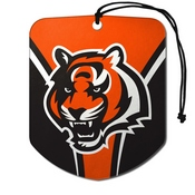 NFL - Cincinnati Bengals Air Freshener 2-pk 2.75 x 3.5 - Bengal Head Logo