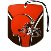 NFL - Cleveland Browns Air Freshener 2-pk 2.75 x 3.5 - Browns Primary Logo