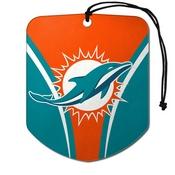 NFL - Miami Dolphins Air Freshener 2-pk 2.75 x 3.5 - Dolphins Primary Logo