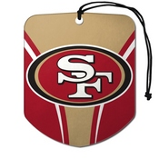 NFL - San Francisco 49ers Air Freshener 2-pk 2.75 x 3.5 - 49ers Primary Logo