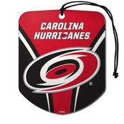 NHL - Carolina Hurricanes Air Freshener 2-pk 2.75 x 3.5 -