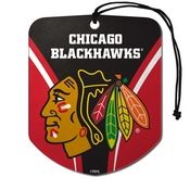 NHL - Chicago Blackhawks Air Freshener 2-pk 2.75 x 3.5 -