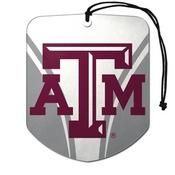 Texas A&M University Air Freshener 2-pk 2.75 x 3.5 -
