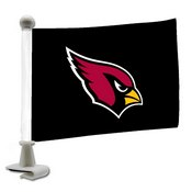 NFL - Arizona Cardinals Ambassador Flags 4 x 6 - Cardinals Primary Logo - Black Flag