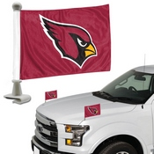 NFL - Arizona Cardinals Ambassador Flags 4 x 6 - Cardinals Primary Logo - Red Flag