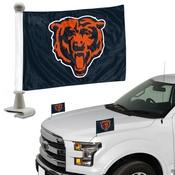 NFL - Chicago Bears Ambassador Flags 4 x 6 - Bear Head Logo