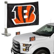 NFL - Cincinnati Bengals Ambassador Flags 4 x 6 - Stiped B Logo