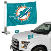 NFL - Miami Dolphins Ambassador Flags 4 x 6 - Dolphins Primary Logo