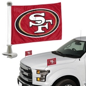 NFL - San Francisco 49ers Ambassador Flags 4 x 6 - 49ers Primary Logo