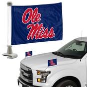 University of Mississippi (Ole Miss) Ambassador Flags 4 x 6 -