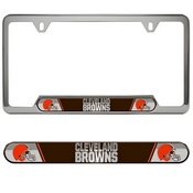 NFL - Cleveland Browns Embossed License Plate Frame 12.25 x 6.25 - Primary Logo and Wordmark