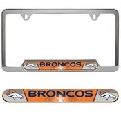NFL - Denver Broncos Embossed License Plate Frame 12.25 x 6.25 - Primary Logo and Wordmark