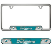 NFL - Miami Dolphins Embossed License Plate Frame 12.25 x 6.25 - Primary Logo and Wordmark