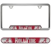 University of Alabama Embossed License Plate Frame 12.25 x 6.25 - Primary Logo and Wordmark