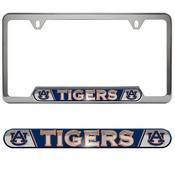 Auburn University Embossed License Plate Frame 12.25 x 6.25 - Primary Logo and Wordmark