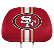 NFL - San Francisco 49ers Printed Headrest Cover 14 x 10 - 49ers Primary Logo