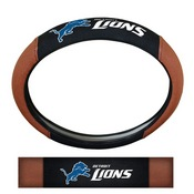 NFL - Detroit Lions Sports Grip Steering Wheel Cover 14.5 to 15.5 - Primary Logo and Wordmark