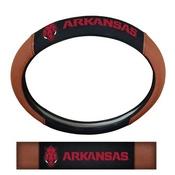 University of Arkansas Sports Grip Steering Wheel Cover 14.5 to 15.5 - Primary Logo and Wordmark