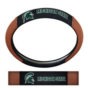 Michigan State University Sports Grip Steering Wheel Cover 14.5 to 15.5 - Primary Logo and Wordmark