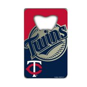 MLB - Minnesota Twins Credit Card Bottle Opener 2 x 3.25 - Primary and Alternate Logo