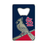 MLB - St. Louis Cardinals Credit Card Bottle Opener 2 x 3.25 - Primary and Alternate Logo