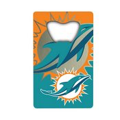 NFL - Miami Dolphins Credit Card Bottle Opener 2 x 3.25 - Dolphins Primary Logo