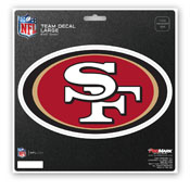 NFL - San Francisco 49ers Large Decal 8 x 8 -