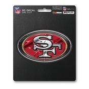 NFL - San Francisco 49ers 3D Decal 5 x 6.25 -