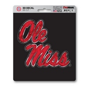 University of Mississippi (Ole Miss) 3D Decal 5 x 6.25 -