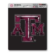 Texas A&M University 3D Decal 5 x 6.25 -