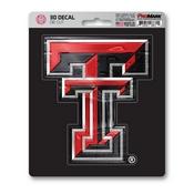 Texas Tech University 3D Decal 5 x 6.25 -