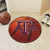 Texas A&M Basketball Mat 27 diameter