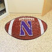 Northwestern Football Rug 20.5x32.5