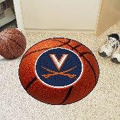 Virginia Basketball Mat 27 diameter
