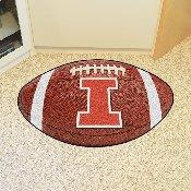 Illinois Football Rug 20.5x32.5