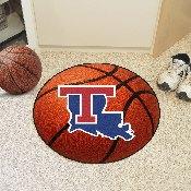 Louisiana Tech Basketball Mat 27 diameter