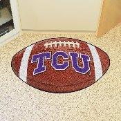 TCU Football Rug 20.5x32.5