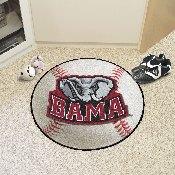 Alabama Baseball Mat 27inch diameter