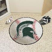 Michigan State Baseball Mat 27 diameter