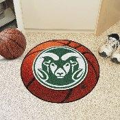 Colorado State Basketball Mat 27 diameter