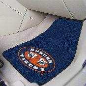 Auburn Tigers 2-piece Carpeted Car Mats 17x27