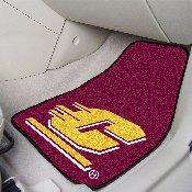 Central Michigan 2-piece Carpeted Car Mats 17x27