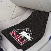 Northern Illinois 2-piece Carpeted Car Mats 17x27