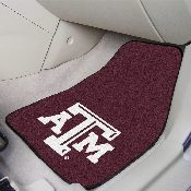 Texas A&M 2-piece Carpeted Car Mats 17x27