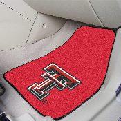 Texas Tech 2-piece Carpeted Car Mats 17x27