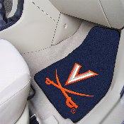 Virginia 2-piece Carpeted Car Mats 17x27