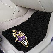 NFL - Baltimore Ravens 2-piece Carpeted Car Mats 17x27