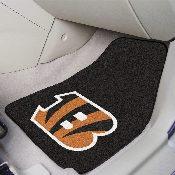 NFL - Cincinnati Bengals 2-piece Carpeted Car Mats 17x27